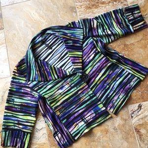IC by ConnieK wearable art textured stretch blazer